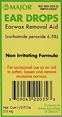 Ear Drops Earwax Removal Aid -- 0.5 fl oz By Major Compare to Debrox by Major