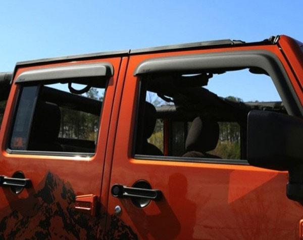 Amazon Com Rugged Ridge 11349 12 Matte Black Window Visor