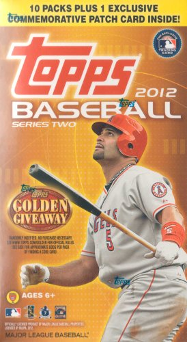 2012 Topps Baseball Series Two Factory Sealed Unopened Blaster Box That Contains 10 Packs with 8 Cards Per for a Total of 80 Cards Plus One Commemorative Patch Card