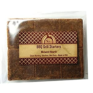 Midwest Hearth 100% Natural Charcoal Starters for BBQ Grill and Barbecue Smokers from Midwest Hearth