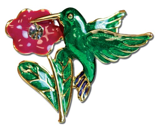 Mother Pin Hummingbird and Flower Ships Freight