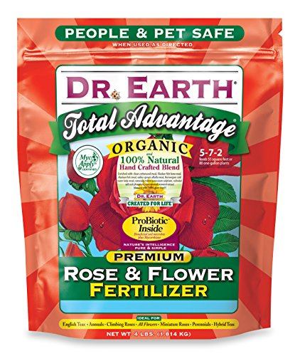 Dr earth 702p organic 3 rose flower fertilizer in poly bag 4 pound - Organic flower fertilizer homemade solutions ...