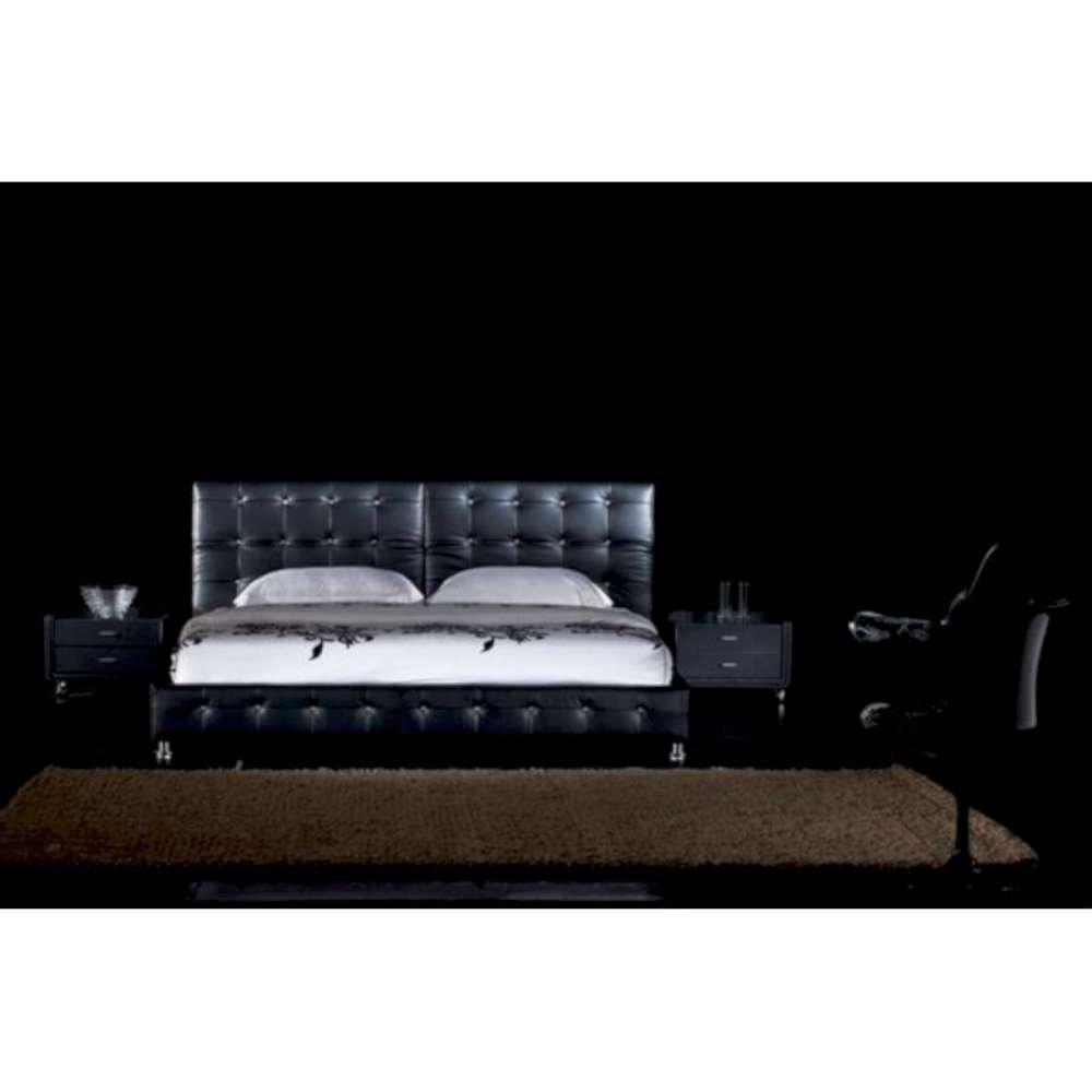 JUSThome Theatro Schwarz Polsterbett Ekoleder Größe 140×200 cm online kaufen