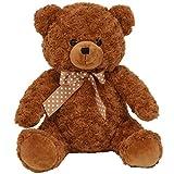 不二貿易 熊 ぬいぐるみ 座高40cm ブラウン 22579