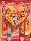 Disney Princess Lipstick with Heart Box, 4 Count