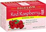 Bigelow Red Raspberry Herbal Tea, 20-Count Boxes (Pack of 6)