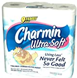 Charmin Ultra Soft Bathroom Tissue 9 Family Rolls