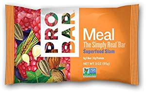 Probar Meal Simply Real Bar, Superfood Slam, 3 Ounce (12 Count)