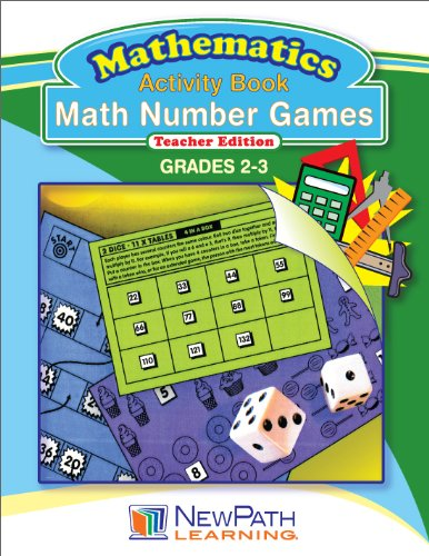 NewPath Learning Math Number Games Reproducible Workbook, Grade 2-3