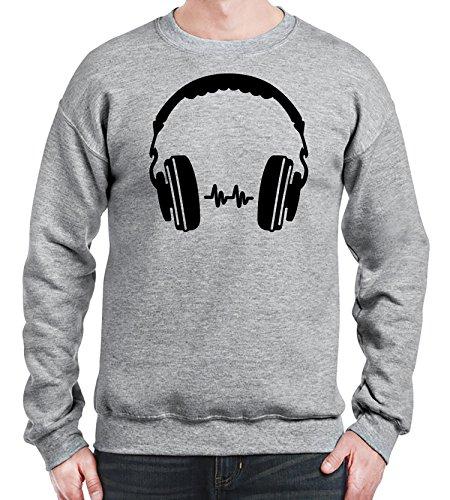 herren-sweatshirt-mit-headphones-print-xx-large-grau