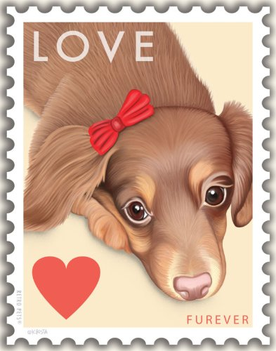 Retro Pets - Dachshund Art - Doxie Love 