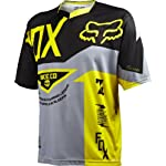 Fox Head Men's Demo Short Sleeve Jersey Grey/Yellow