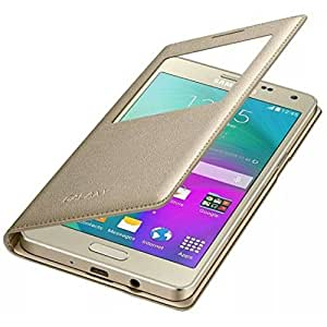 Honey Money (Samaung Galaxy ON5) Window Leather flip cover (gold)