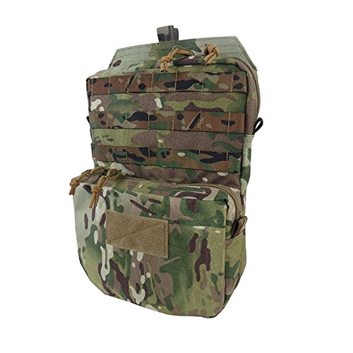 Tactical Molle Hydration Carrier Pack Outdoor Sports Airsoft Paintball Hunting Camping Hiking Gear (Chest Plate Armor)