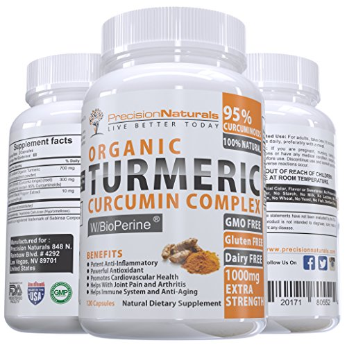 Organic-Turmeric-Curcumin-Extract-with-Bioperine-Black-Pepper-Extract-for-Maximum-Absorption-1000mg-Advanced-Pain-Relief-and-Joint-Support-95-Standardized-Curcuminoids-120-CapsulesPills
