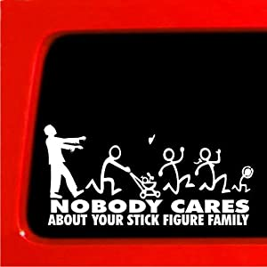 Zombie Stick Figure Family Zombie Stick Family Decals