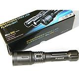 Lampe torche rechargeable, ultra puissante d'une portée de plus 800 lumens de 500 m, avec 3 modes d'éclairage et un zoom électrique