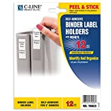 C-Line Self-Adhesive Ring Binder Label Holders, Top Load, 1 4/5 x 2 4/5, Clear, 12/Pack (70023)