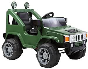 Hummer Jeep Style Kids Ride On with Rechargeable Battery (Green)