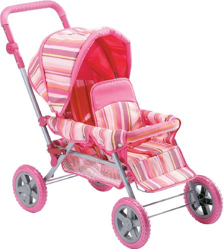 Deluxe Doll Twin Stroller Adjustable Handle Foldable High Quality Performance Amazon.com