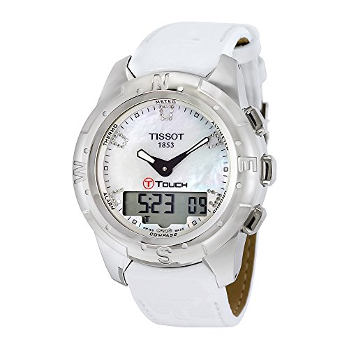 Tissot T-Touch II White Mother of Pearl Diamonds Ladies Watch T0472204611600 - 5111IDs7hoL - Tissot T-Touch II White Mother of Pearl Diamonds Ladies Watch T0472204611600