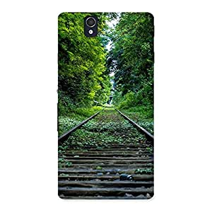 Cute Beautiful Track Green Back Case Cover for Sony Xperia Z