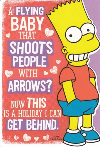 One Crad Greeting Card Valentine's Day Simpsons