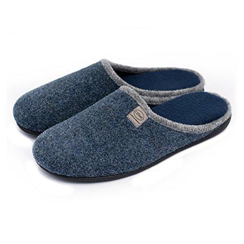 unisex-slip-on-slippers-happy-lily-antislip-sandal-memory-foam-mules-woollen-fabrics-shoes-for-adult