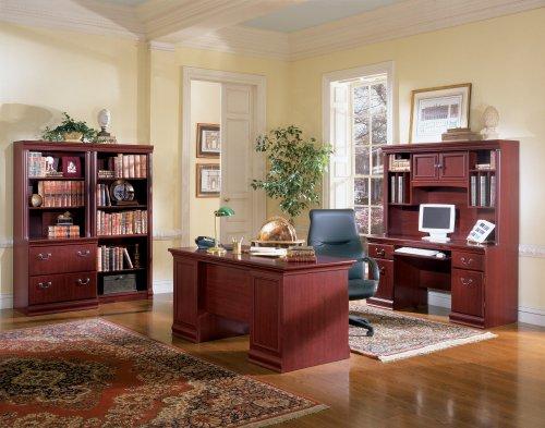 Bush Furniture Birmingham Executive Credenza, Harvest Cherry