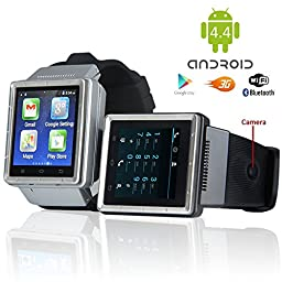 Indigi 3G SmartWatch Phone Android 4.4 WiFi GPS Google PlayStore Unlocked AT&T T-mobile Smart Watches Unlocked Smartphone