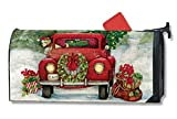 Bringing Home The Tree Large Christmas Mailbox Cover Oversized Mailwrap Holiday