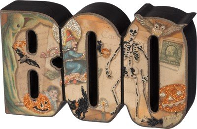 [Primitives by Kathy Boo Decorative Sign] (Wood Boo Sign)