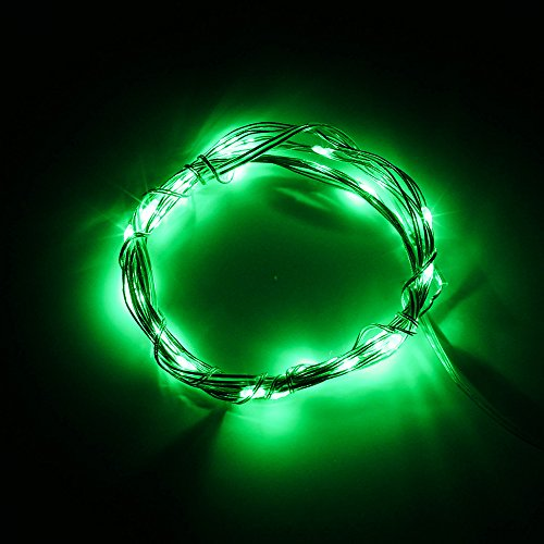 Sinollc 3M Mini Soft Wire String Light Green Starry Light For Festival Holiday Wedding Party Plants Flowers Decoration Aa Battery Powered Led String Light Kitchen Dinning Room Bedroom
