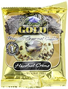 Black Mountain Gold Premium Gourmet Coffee Convenience Pack, Hazelnut Creme, 1.4 Ounce (Pack of 20)