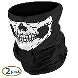#6: NIKAVI Black Seamless Skull Face Tube Mask Pack (2)