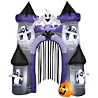 Airblown Inflatable Haunted House Archway 9' Halloween Yard Decoration