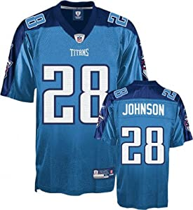 Men`s Tennessee Titans #28 Chris Johnson Replica Jersey by Reebok