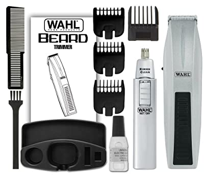 wahl 5537 420 mustache and beard with bonus trimmer. Black Bedroom Furniture Sets. Home Design Ideas