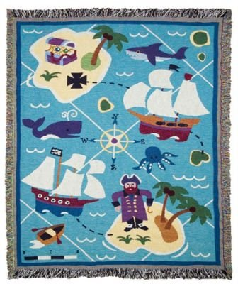 Olive Kids Pirates Woven Throw front-948472