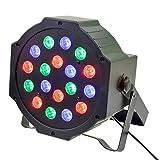 (Ckeyin) ステージレーザー照明 LED PARライト DMX512 18*3W LED RGB 舞台照明 クラブディスコ/DJパーティー/DMXライトステージ適用
