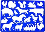 Farm Animals Drawing Template Stencil