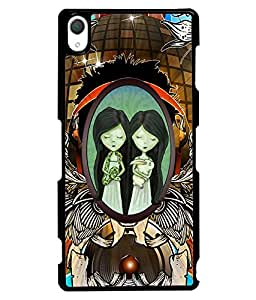 Fuson 2D Printed Girly Designer back case cover for Sony Xperia Z2 - D4526
