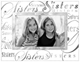 Malden Clear Expressions Glass Picture Frame, Sisters, 4 by 6-Inch