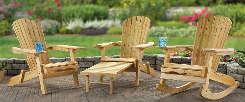 Folding Adirondack Chair with Footrest