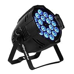 Eyourlife LED PAR 18x10w Light 180watt RGBW 64 Quad Par Light DMX512 Disco DJ Stage Lighting,party essential