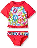 Wippette Baby Big Pastel Flowers Rashguard Set, Knockout Pink, 24 Months Size: 24 Months Color: Knockout Pink, Model: WG669042, Newborn & Baby Supply