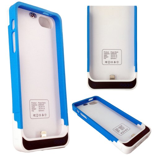 Great Sale Iphone 5 Backup Battery Cover Case 2200mah