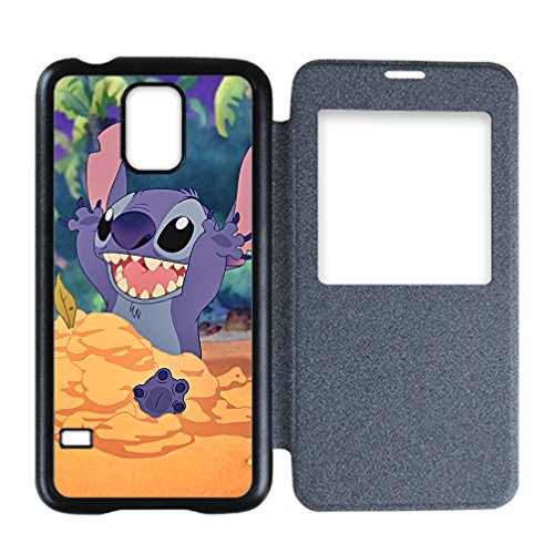 Libby Baldwin New fashion custom Cute Cartoon Halloween Gift Lilo & Stitch movies hight quality Leather Front Plastic Back Samsung Galaxy S5 Flip (Cute Halloween Costumes Tumblr)