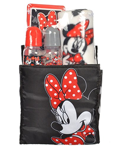 "Minnie Mouse ""Dotted Magic"" 5-Piece Diaper Bag Gift Set - black, one size by Cudlie Accesories"