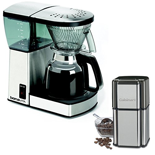 Bonavita-BV1800-8-Cup-Coffee-Maker-with-Glass-Carafe-with-Cuisinart-Grind-Central-Coffee-Grinder
